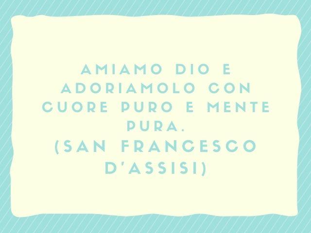 frasi san francesco