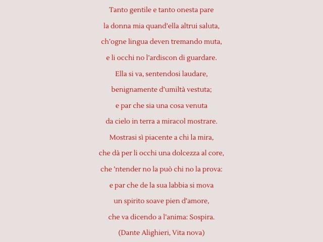 poesia dante alighieri